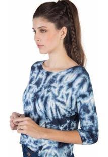 Blusa Tie Dye Taco Feminina - Feminino-Azul
