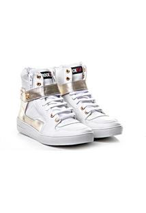 Tênis Sneaker Rock Fit Couro Napa Confort - Feminino