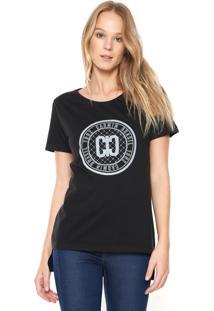 Camiseta Carmim Estampada Preta