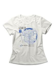 Camiseta Feminina Signo Gêmeos Off-White