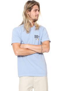 Camiseta Osklen Lettering Azul