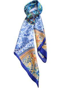 Lenço Smm Acessorios Mandala Azul