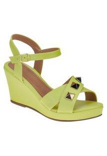 Anabela Sandalia Feminina Spaike Lemon Joys Shoes