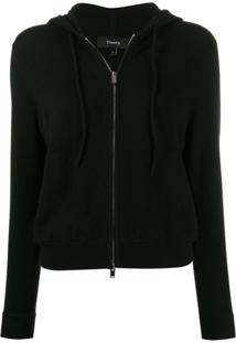 Theory Cashmere Zipped Cardigan - Preto
