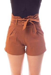 Short Moda Vicio Clochard Caramelo