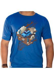 Camiseta Masculina Eco Canyon Car In The Mud Azul