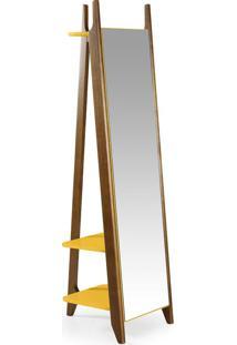 Espelho Stoka 169,5 Cm 988 Nogal/Amarelo - Maxima