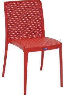 Cadeira Isabelle Pp E Fibra De Vidro Vermelho Tramontina