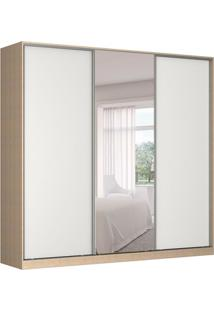 Guarda-Roupa Casal Com Espelho Tunas I 3 Pt 3 Gv Noce E Branco