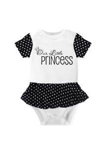 Body Com Saia Nerderia E Lojaria Little Princess Branco..