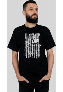 Camiseta Bleed American Dark Flag Preta