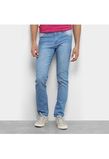Calça Jeans Aleatory Slim Elastano Masculina - Masculino-Jeans