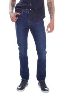 Calça Jeans Levis 510 Skinny Lavagem Escura Masculina Masculina - Masculino-Azul Escuro