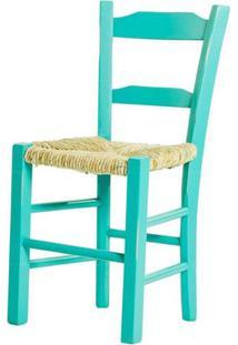 Cadeira Lagiana Pequena Eucalipto Turquesa Palha - 31282 - Sun House