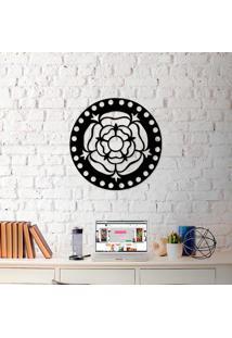 Escultura De Parede A Laser Mandala Rosa