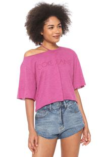 Camiseta Coca-Cola Jeans Recorte Rosa
