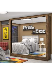 Guarda Roupa Casal 3 Portas Com Espelho Santiago Premium Siena Móveis Demolição
