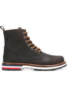 Moncler Ankle Boot Em Couro 'Vancouver' - Marrom