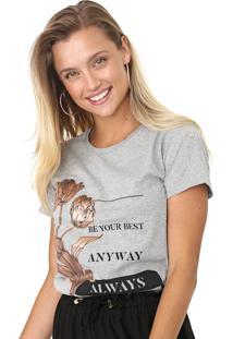 Camiseta Enfim Estampada Cinza - Kanui
