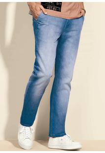 Calça Jeans Masculina Slim Com Lavação