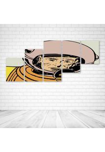 Quadro Decorativo - Astronaut Retro - Composto De 5 Quadros - Multicolorido - Dafiti