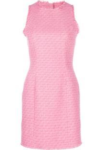 Balmain Vestido Slim De Tweed - Rosa