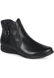Ankle Boots Feminina Preto Preto