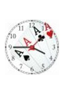 Relógio De Parede Baralho Cartas Canastra Decorar Sala De Jogos