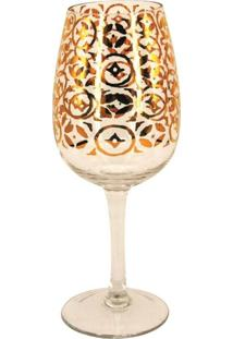 Conjunto De Taças De Vinho Em Vidro Cristalino Natal 6 Peças - Tricae