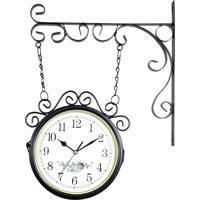 6f62975daeb Relógio De Parede Com Suporte Preto Para Decoração - Estilo Estação  Ferroviária Retrô Vintage Flores R3P