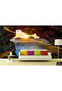 Papel De Parede 3D Cavernas, Grutas, Rochas, Cidades, Infantil, Montanhas, Florestas, Cachoeiras, Paisagens Adesivo Decorativo Painel Fotográfico - Co