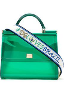 Dolce & Gabbana Bolsa Tote Transparente - Verde