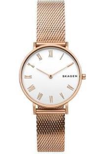 Relógio Skagen Feminino Hald - Skw2714/1Jn Skw2714/1Jn - Feminino-Bronze
