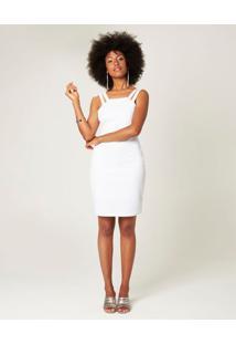 Vestido Curto Com Alça Dupla Malwee Branco - Pp