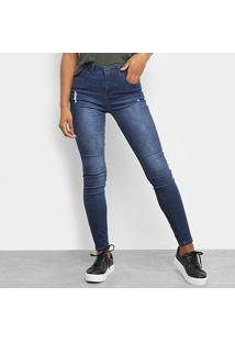 Calça Jeans Skinny Calvin Klein Five Pockets High Rise Body Feminina - Feminino-Marinho