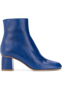 Red Valentino Ankle Boot De Couro - Azul