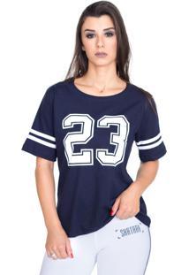 Camiseta Shatark College Azul Marinho