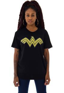 Camiseta Korova Pixel Wonder Woman Preta