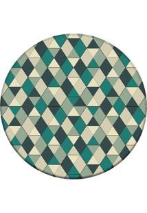 Tapete Love Decor Redondo Wevans Illusion Triangle Verde 84Cm