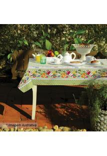 Toalha De Mesa Estampada Eva- Branca & Verde- 210X14Lepper