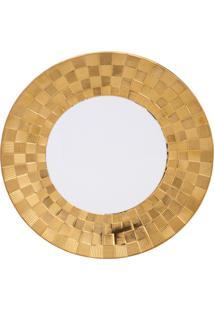 Conjunto 6 Pratos De Porcelana Wolff 27X3Cm – Vera Gold