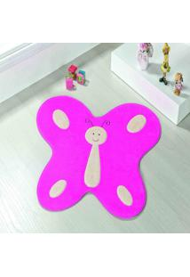 Tapete Dourados Enxovais Formato Big Borboleta Feliz Pink