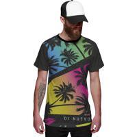 Camiseta Di Nuevo Miami Beach Palmeiras Coloridas Swag Preta bd190eeaa95d1