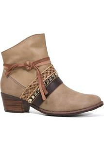 Bota Tanara T0308 Ankle Boot Feminina Avelã