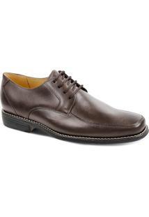 Sapato Social Masculino Derby Sandro Moscoloni New Brook Marrom Escuro