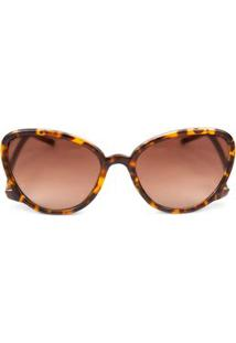 6292ce9a0f1c6 Óculos De Sol Marrom Morena Rosa feminino   Shoelover