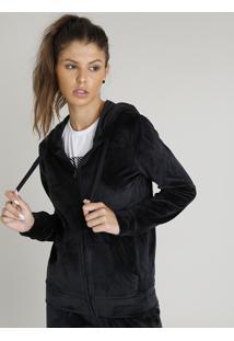 acfd2574b R$ 99,99. CEA Blusão Feminino Esportivo Ace Em Plush Com Capuz Preto