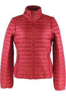Jaqueta Feminina 2 Em 1 (Jaqueta E Colete) De Pluma Ultralight Alpine - Aurora - Feminino-Vermelho
