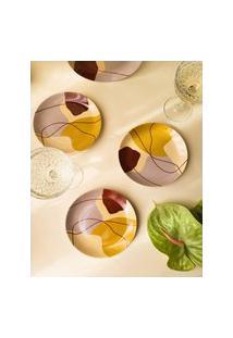 Amaro Feminino A. Perdonssini Prato Flowy Sobremesa 19Cm, Multi Colorido