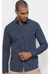 Camisa Manga Longa Jab Estampada Mini Print Masculina - Masculino